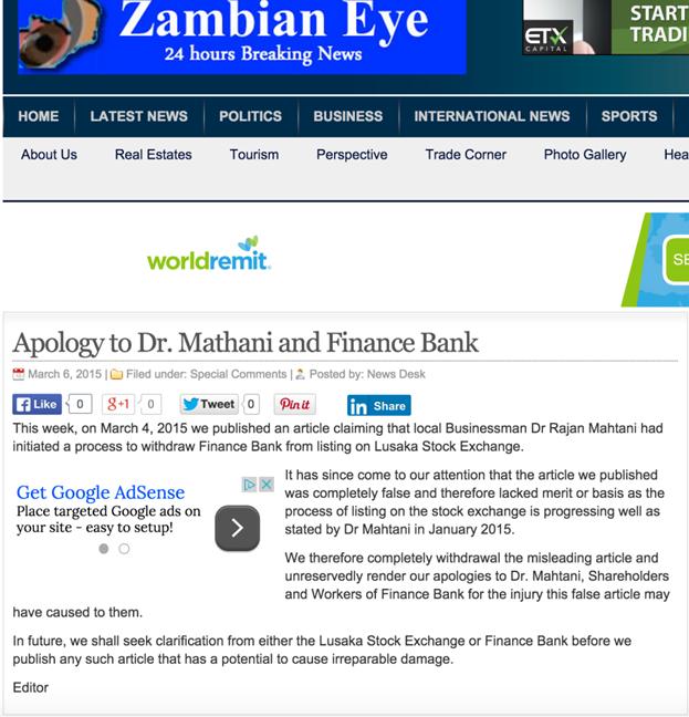 Finance Bank of Zambia